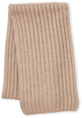 Fraas Wool Cashmere-Blend Ribbed Knit Scarf