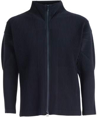 Pleats Please Issey Miyake Pleated Crepe Zip-up Jacket