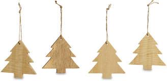 Nkuku Mango Wood Large Trees Tree Decoration - Set of 4