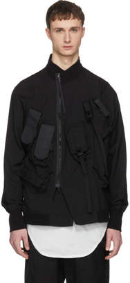Julius Black Multi Pocket Coat