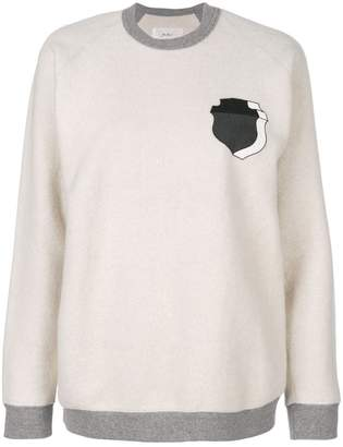 Julien David shield print sweatshirt