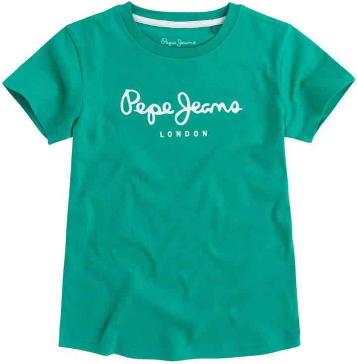 Pepe Jeans London Art - Kurzärmeliges T-Shirt - grün