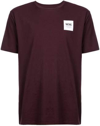 Wood Wood logo patch T-shirt