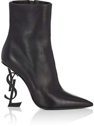 Saint Laurent Women's Opyum Leather Ankle Boots