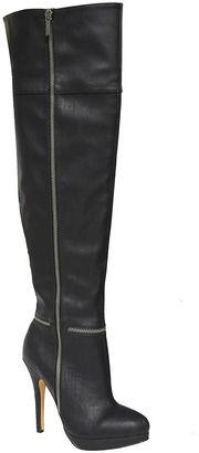 MICHAEL ANTONIO Michael Antonio Wynni Womens Over the Knee Boots- Wide Calf $80 thestylecure.com