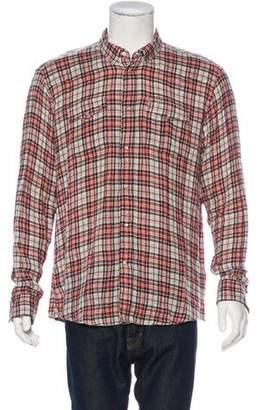 Balmain Plaid Flannel Shirt