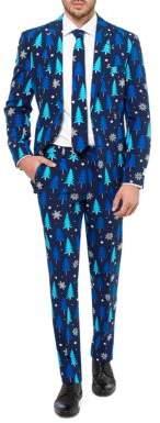 Opposuits Tonal Christmas Tree Printed Suit
