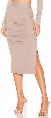 LAmade Gathered Midi Skirt