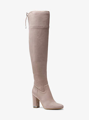 Michael Kors Jamie Stretch Over-The-Knee Block-Heel Boot