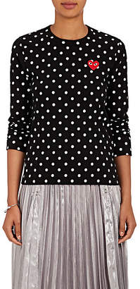 Comme des Garcons Women's Heart Cotton Jersey T-Shirt - Black