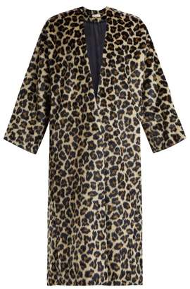 Masscob Timothee Leopard Print Faux Fur Coat - Womens - Leopard