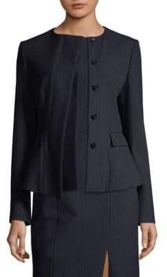 BOSS Pinstripe Suit Jacket