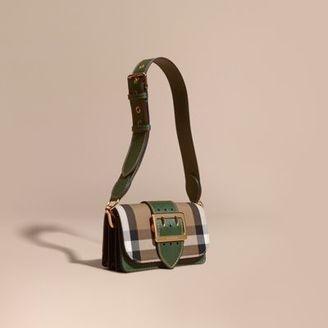 Burberry The Buckle Bag in House Check and Leather $1,095 thestylecure.com