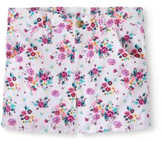 Wonder Nation Girls' Printed Chino Shorts