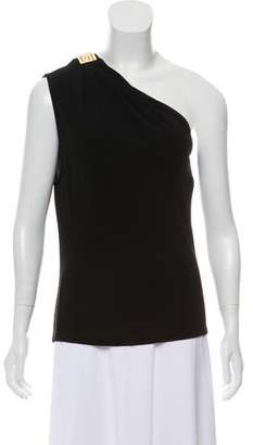 Gianni Versace One-Shoulder Accented Top