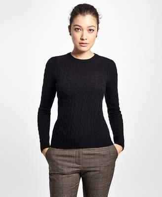 Cashmere Cable Crewneck Sweater $398 thestylecure.com