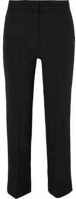 Victoria Beckham Victoria, Piped Crepe Straight-leg Pants - Black