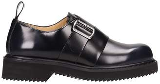 Jil Sander Navy Black Leather Loafers