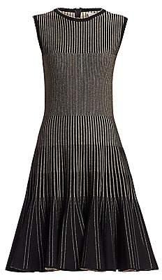 Oscar de la Renta Women's Sleeveless Ribbed Dress