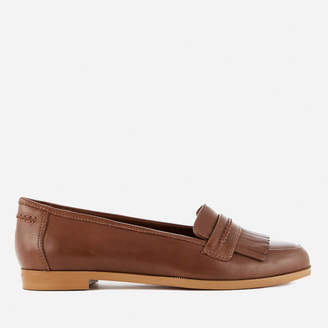 Clarks Women's Andora Crush Leather Loafers - Tan