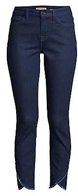 7 For All Mankind Jen7 by Women's Scallop Hem Ankle Skinny Jeans