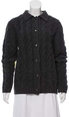 Prada Wool Cable Knit Cardigan