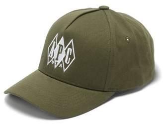 A.P.C. Matthew Embroidered Cotton Cap - Mens - Khaki