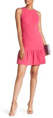 Donna Morgan Sleeveless Ruffle Hem Crepe Dress