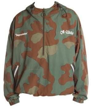 Off-White Camouflage Windbreaker Jacket