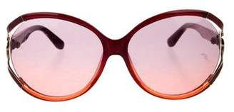 Salvatore Ferragamo Gradient Oversize Sunglasses