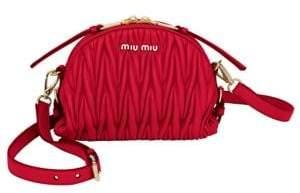 Miu Miu Metelasse Leather Crossbody Bag