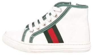 Gucci Boys' Canvas High-Top Sneakers
