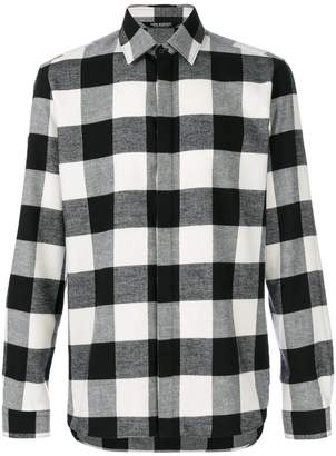 Neil Barrett checked flannel shirt