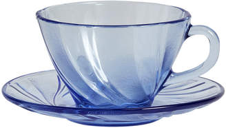 Hay HAY - French Coffee Cup & Saucer - Blue Glass
