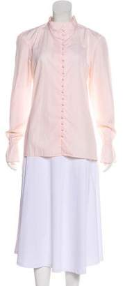 Frame Long Sleeve Button-Up Blouse