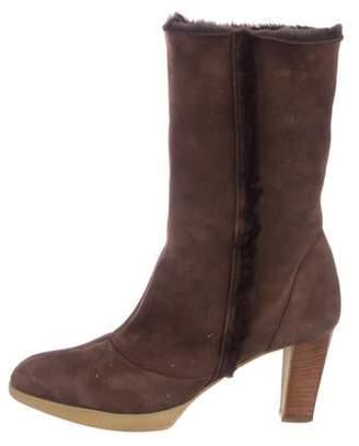 16d00b849ed Salvatore Ferragamo Shearling-Lined Mid-Calf Boots
