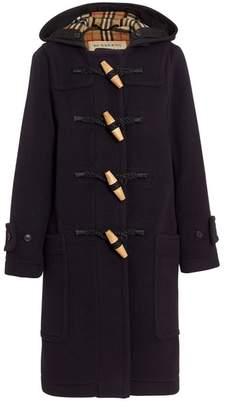 Burberry Wool Blend Oversized Duffle Coat
