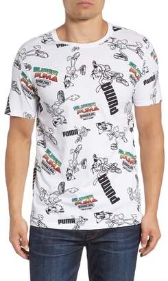 Puma Super Allover Graphic Regular Fit T-Shirt