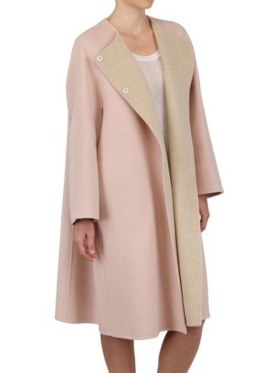 Jil Sander - Two Tone Soft Wool Cocoon Coat