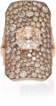 Sylva & Cie 14K Rose Gold And Champagne Diamond Ring