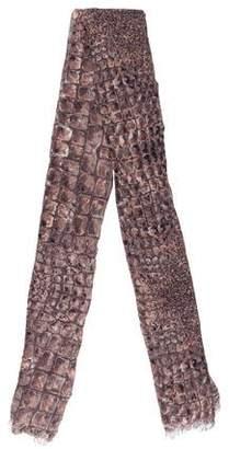 Loewe Printed Frayed Scarf