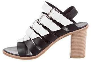 Balenciaga Leather Bicolor Sandals