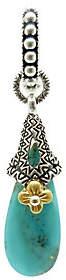 Barbara Bixby Sterling & 18K Turquoise Drop Pendant