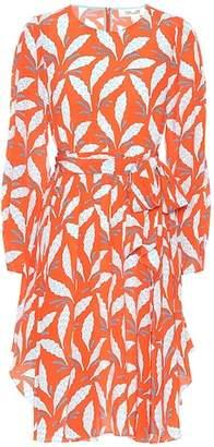 Diane von Furstenberg Leaf-printed silk dress