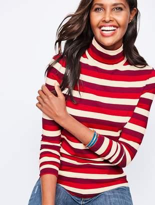 Talbots Long-Sleeve Stripe Turtleneck-Autumnal Stripe