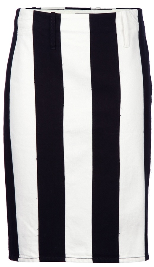 Acne striped pencil skirt