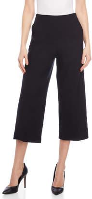 Karen Millen Navy Cropped Wide Leg Pants