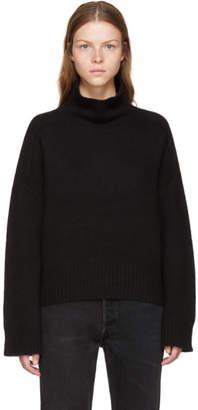 Wendelborn Black Oversized Cashmere Turtleneck