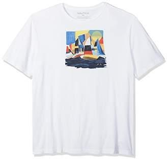 Nautica Men's Big and Tall Short Sleeve Signature Graphic Crewneck T-Shirt