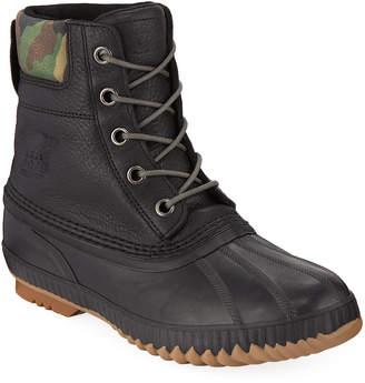 Sorel Men's Cheyanne II Premium Waterproof Short Leather Lace-Up Duck Boots